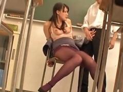 Japanese Teacher Rough Sex In Classroom