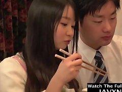Japanese Teen Fucked During Family Dinner
