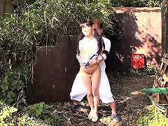 Tiny Asian Babe Gets Cumshot Between Thighs