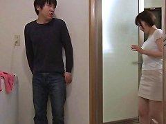 Beautiful Busty Milf Mizuno Asahi Gives Cock A Deepthroat Blowjob